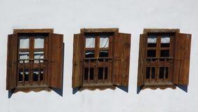 trzy okna Zdjęcie Royalty Free