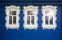 trzy okna Fotografia Royalty Free