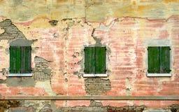 trzy okna Obrazy Royalty Free
