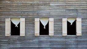 trzy okno Fotografia Stock