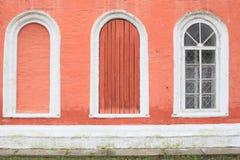 Trzy okno. Obrazy Royalty Free