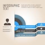 Trzy okregów biznesowych dane barwiąca prezentacja Zdjęcia Stock