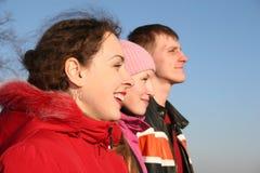 trzy osoby Zdjęcia Royalty Free