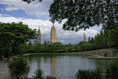 Trzy Pagadas park w Dal Obraz Royalty Free