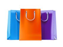 Trzy papierowej torby Zdjęcia Stock