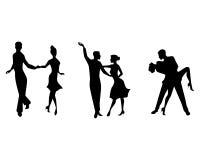 Trzy par tanczyć Zdjęcie Stock