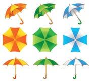 trzy parasol Zdjęcia Stock