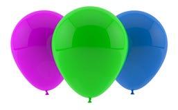 Trzy partyjnego balonu Zdjęcie Stock