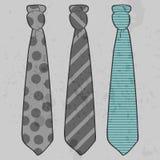 Trzy pięknego krawata ilustracji