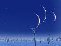 Trzy planet wzrost ilustracja wektor