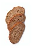 Trzy plasterka świeży żyto chleb zdjęcie stock