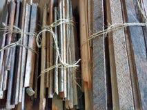 Trzy plika drewno, Lath i tynk, Domowy odświeżanie, DIY fotografia royalty free