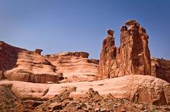 Trzy plotkują, Wysklepiają, parka narodowego, Utah Fotografia Royalty Free