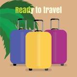 Trzy podróży torba Obrazy Royalty Free