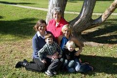 trzy pokolenia małe rodzinne obraz royalty free
