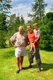 trzy pokolenia rodziny Obraz Royalty Free