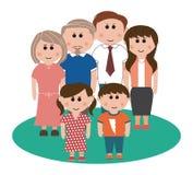 trzy pokolenia rodziny Zdjęcia Stock
