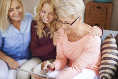 Trzy pokolenie kobiety Zdjęcia Stock