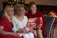 Trzy pokolenie kobiety Obraz Royalty Free