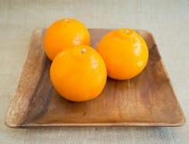 trzy pomarańczy Obraz Stock