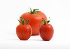 trzy pomidory Zdjęcie Royalty Free