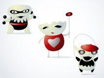 Trzy potwora są dziećmi Obraz Stock