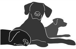 trzy psy ilustracji