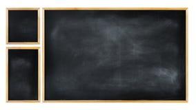 Trzy Pusty Blackboard w Różnych rozmiarach Fotografia Stock