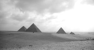 trzy pyramides giza Fotografia Royalty Free