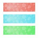 Sztandary z białymi okręgami Obraz Stock