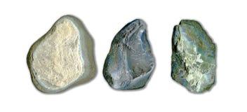 Trzy różnego kamienia Zdjęcia Royalty Free