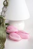 Trzy różowego tulipanu Obrazy Royalty Free