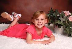 Trzy roczniaka dziecko w formalnym portrecie Zdjęcie Royalty Free
