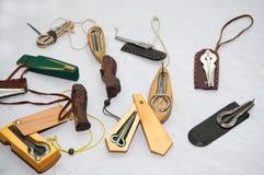 Trzy Rosyjski i yakutian harfa, khomus, vargan instrumenty muzykalni zdjęcie royalty free