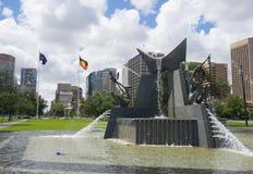Trzy rzek fontanna upamiętnia wizytę królowa elżbieta ii i diuk Edynburg w 1963 przy Wiktoria kwadratem zdjęcia royalty free