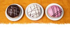 Trzy słodkiego eclairs 02 Zdjęcie Stock