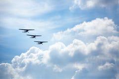 Trzy samolotów latanie Obrazy Royalty Free