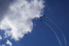 Trzy samolotu w niebie Obrazy Stock