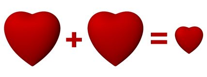 trzy serca Zdjęcia Stock