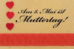 Trzy serca i tekst dla matka dnia Fotografia Royalty Free