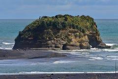 Trzy siostr plaże i słonia Rockowej formaci Fotografia Stock