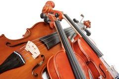 trzy skrzypce. Zdjęcia Royalty Free