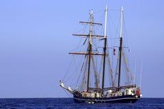 trzy skuner ' s sail. Zdjęcia Stock