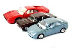 trzy sportowe auta Fotografia Royalty Free