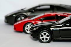 Trzy sportowy samochód Zdjęcia Royalty Free