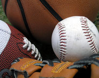 trzy sporty. Zdjęcie Royalty Free