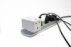Trzy sposobów elektryczna nasadka fotografia stock