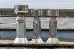 Trzy stali nierdzewnej wydmuchowej wentylacji fotografia royalty free