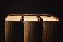 Trzy Stara książka zdjęcie royalty free