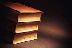 Trzy Stara książka zdjęcia stock